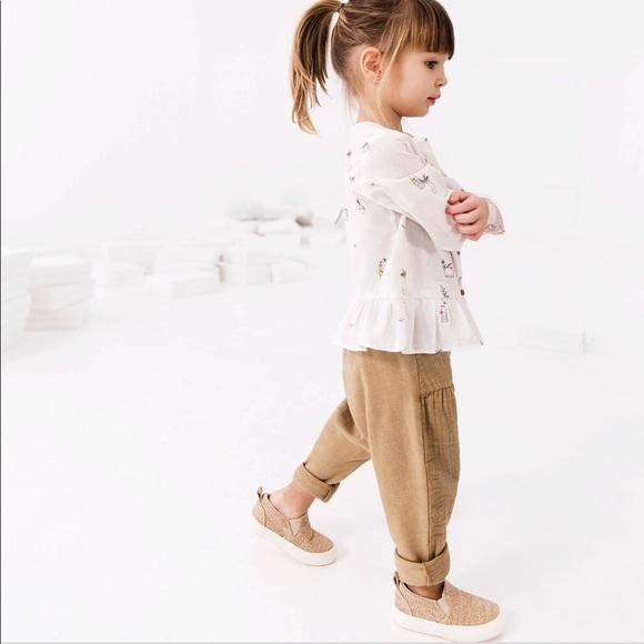 cd585bbc Zara baby girl trouser harem pants 9-12 months tan